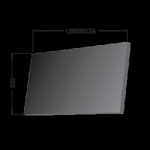 Fascia tre tele larghezza 300mm senza fori