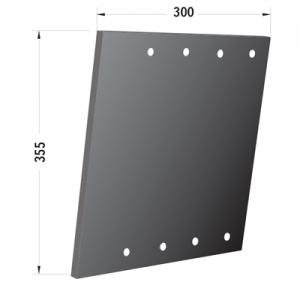 Fascia laterale compatibile scuotitore Berardinucci per tampone maggiorato